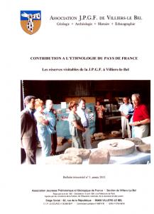 Contribution à l'ethnologie du Pays de France par la JPGF