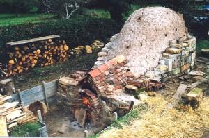 Medieval ceramics firing La Poterie des Grands Bois